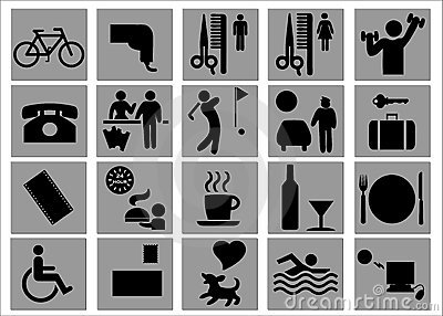 Hotel and Leisure Signs / Symbols