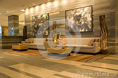 Hotel lobby Editorial Stock Photo