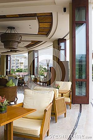 Hotel lobby coffee shop and bar
