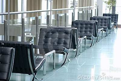 Hotel lobby in contemporary style