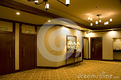 Hotel lobby corridor Editorial Stock Photo