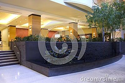 Hotel lobby of Grand Hyatt Bellevue Editorial Photo