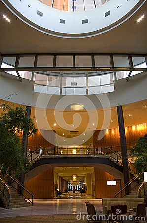 Hotel lobby of Grand Hyatt Bellevue Editorial Image