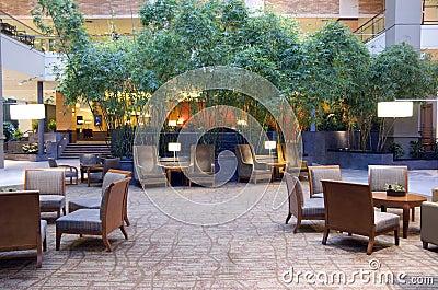 Hotel lobby of Grand Hyatt Bellevue Editorial Image