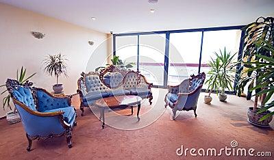 Hotel lobby sofas