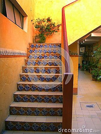 Hotel Lobby Stairway