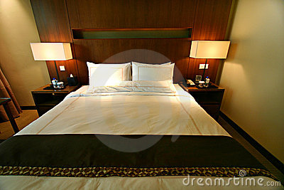Hotel luxury bedroom double bed