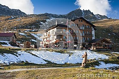 Hotel on mountain