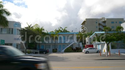 Hotel New Yorker Miami Florida Motion Video stock video