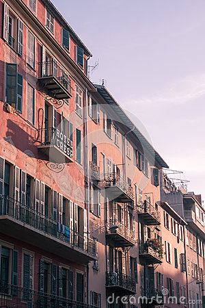Hotel in Nice, France Editorial Stock Image