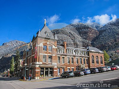 Hotel in Ouray Editorial Stock Photo