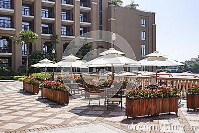 Hotel outdoor recreation area