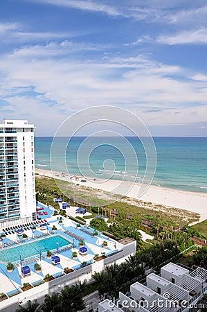 Hotel overlooking the beach