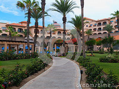 Hotel overlooking the Sea of Cortez