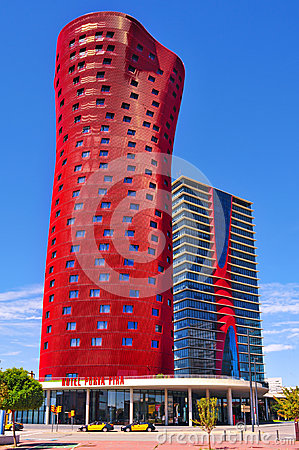 Hotel Porta Fira in Barcelona, Spain Editorial Image