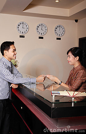 Hotel Receptionist Royalty Free Stock Images - Image: 15991239