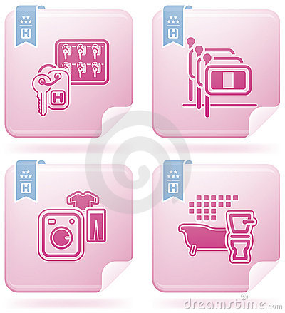 Free Hotel Related Icons Royalty Free Stock Images - 14406939