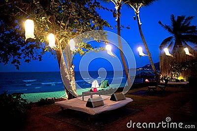 Hotel resort on the beach in Thailand