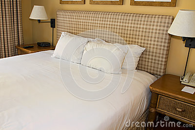 Hotel Resort Bed And White Linen