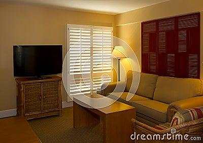 Hotel resort guest room living space