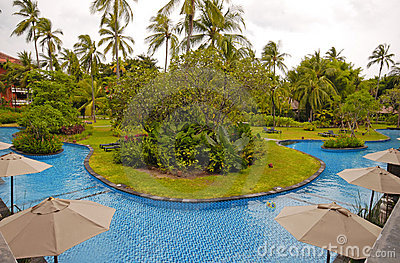 Hotel resort with swimming pool (Bali, Indonesia)