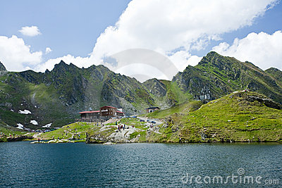 Hotel and restaurant near Balea Lake in Romania