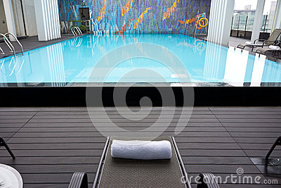 Hotel roof swimming pool