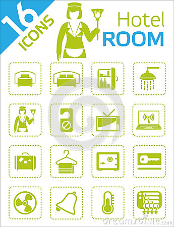 Hotel room icons