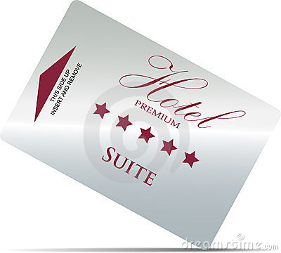 Hotel room key card