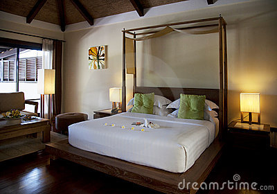 Hotel room in a resort in Thailand