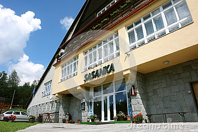 Hotel Sasanka in High Tatras, Slovakia. Editorial Stock Photo