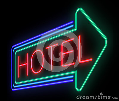 Hotel sign.