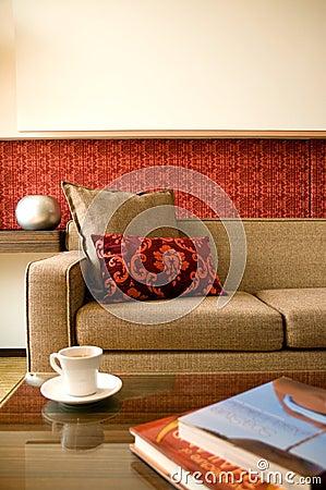 Hotel suite living room with interior design
