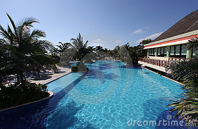 Hotel swimming pool in Mexico