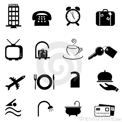 Royalty Free Stock Photo Hotel Symbols Icon Set Image18144515