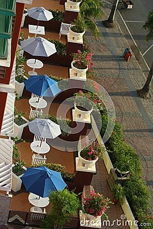 Hotel terrace room