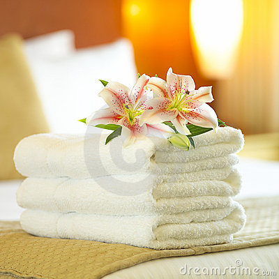 Free Hotel Towels Stock Images - 1056274