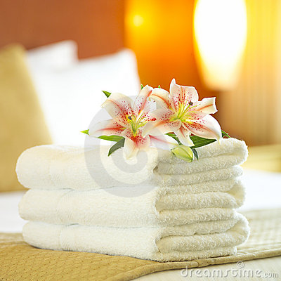 Free Hotel Towels Stock Image - 1099151