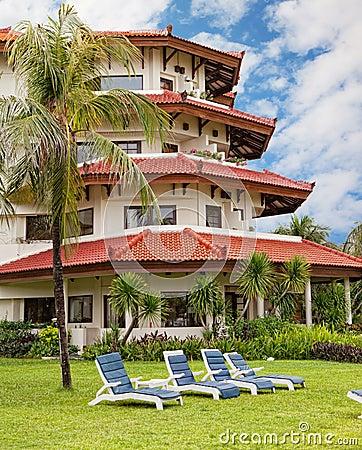 Hotel in tropics