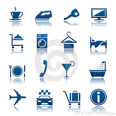 Free Hotel & Vacations Icon Set Royalty Free Stock Photos - 18437668