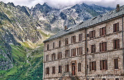 Hotel view in the mer de glace