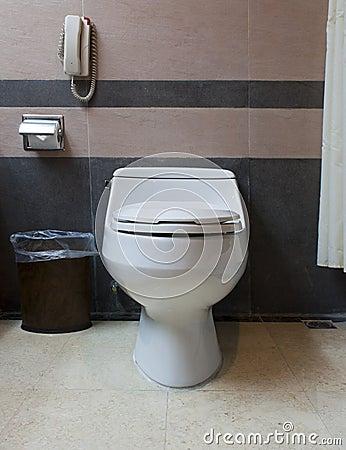 Hotel washroom toiletbowl