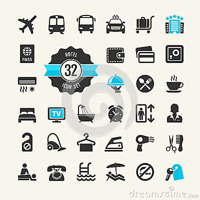 Free Hotel Web Icon Set Stock Images - 39694274