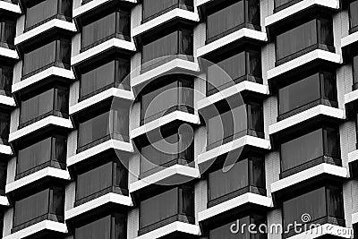 Hotel windows black & white