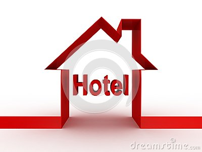 Hotellbyggnad, bilder 3D