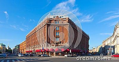 Hotelowy Astoria w Świątobliwym Petersburg. Rosja Zdjęcie Editorial