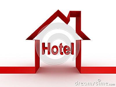 Hotelowy budynek, 3D wizerunki