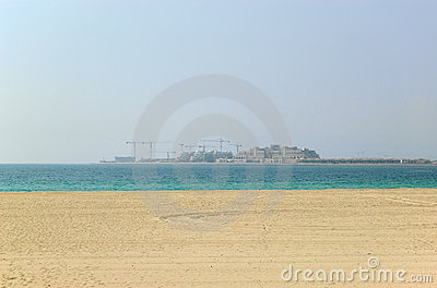 Hotels Construction On The Palm Jumeirah Royalty Free Stock Photos - Image: 13426028