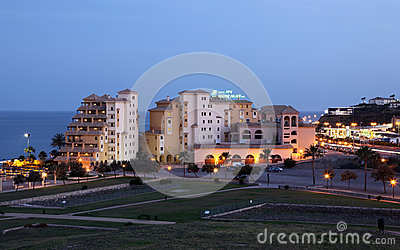 Hotels in Fuengirola, Spain Editorial Stock Image