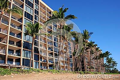 Hotels on tropical beach